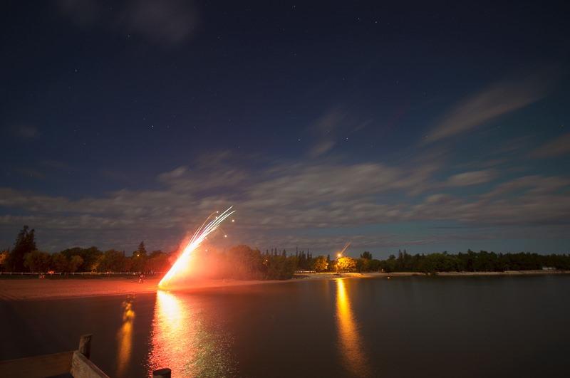 Impromptu fireworks