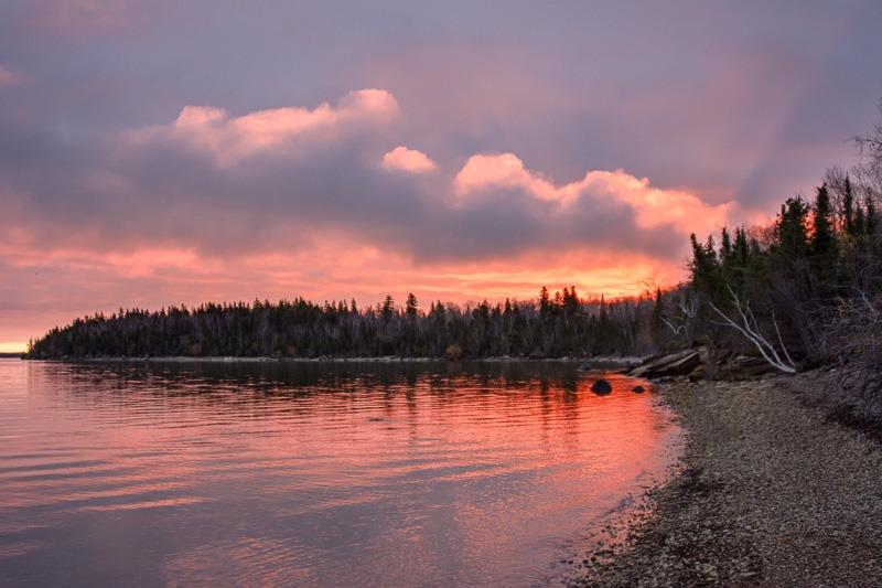 Sunrise over Lake Winnipeg