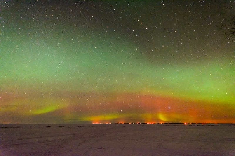 Aurora over Lake Winnipeg
