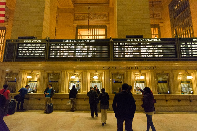 Departures from Grand Central Terminal