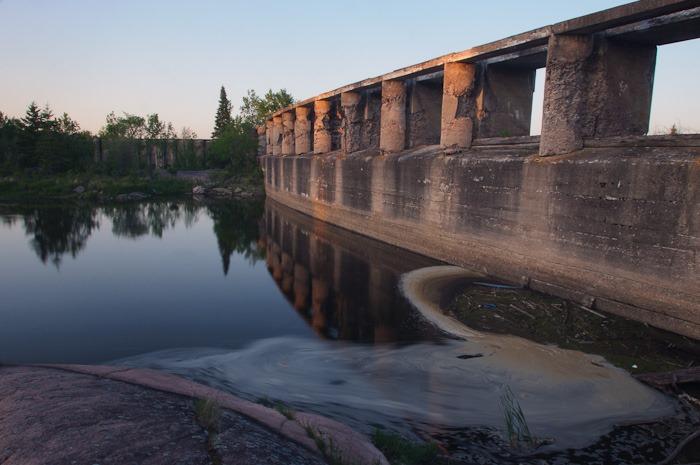 Below the ancient waterline