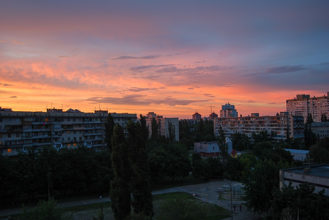 Sunset in Kyiv