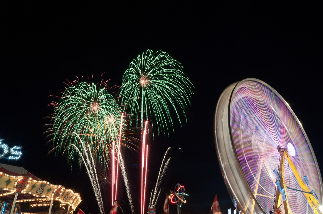Fair and Fireworks – 8.0s f/22 ISO200