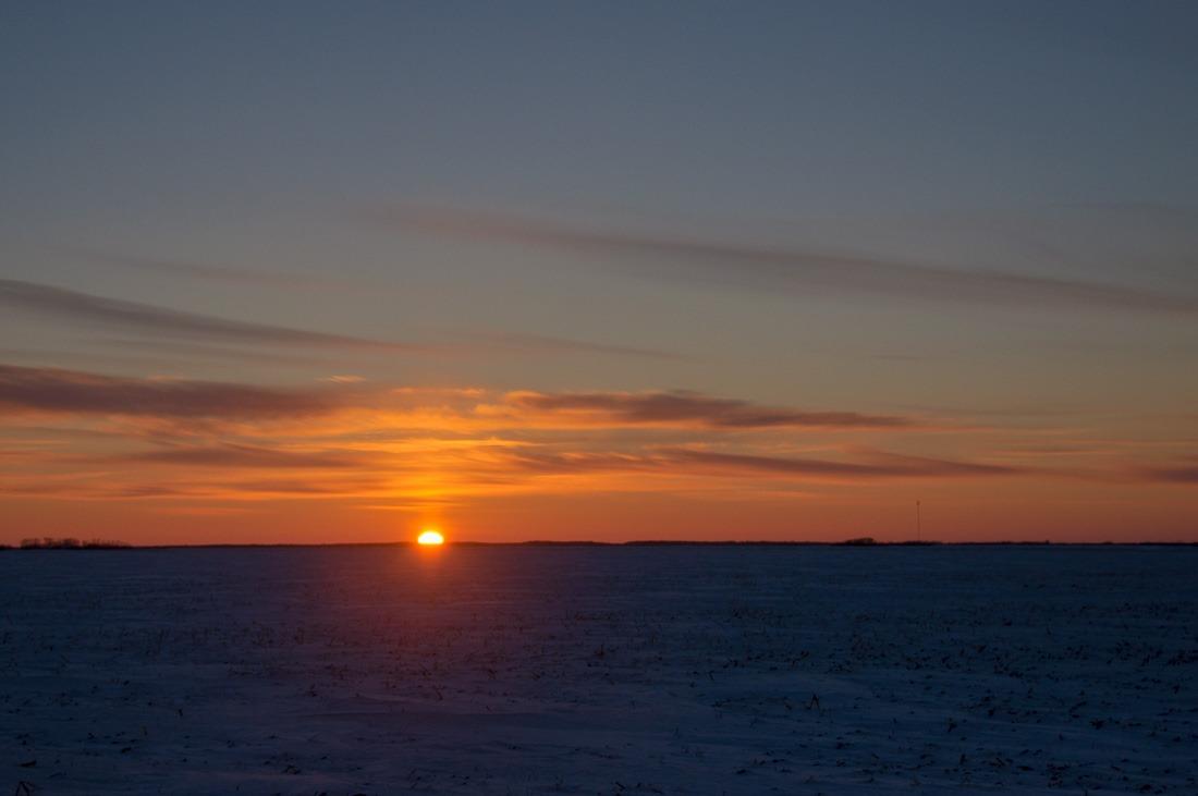 Saint Adolphe sunset