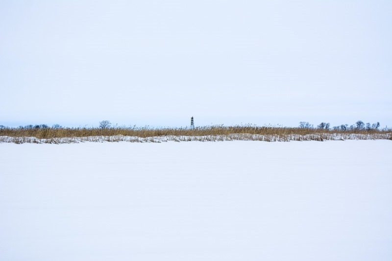 A beacon at the southern tip of Lake Winnipeg