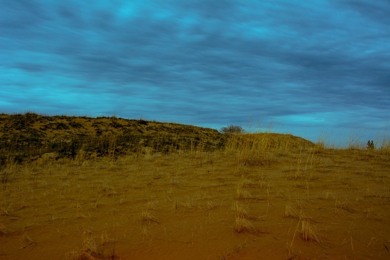 The dunes after sunset