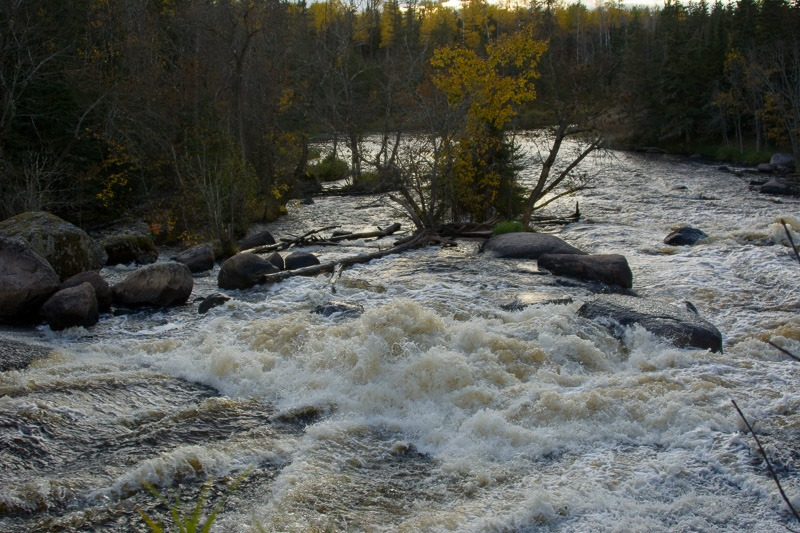 White water of the Whiteshell river