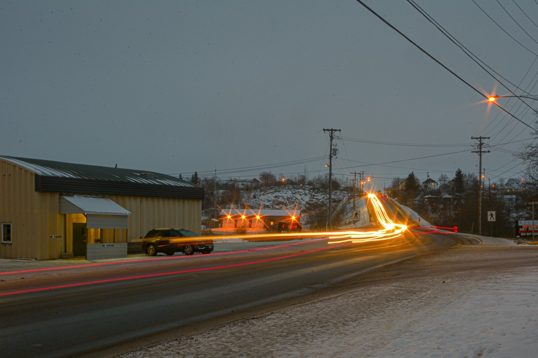 Flin Flon by night