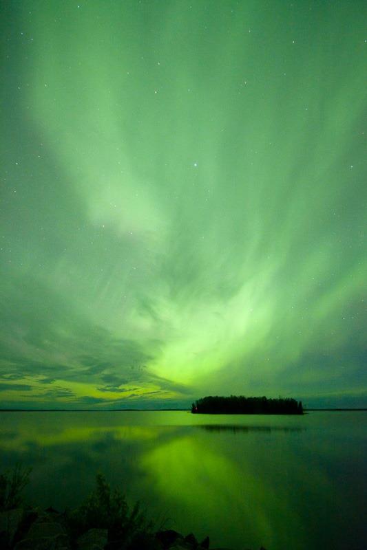 Fantastic Aurora over the Winnipeg River