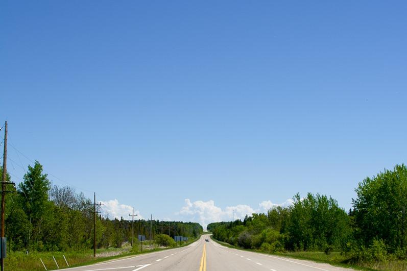Endless blue sky