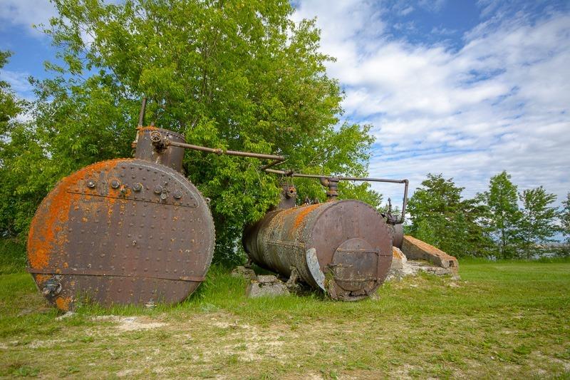 Boilers on Hecla Island
