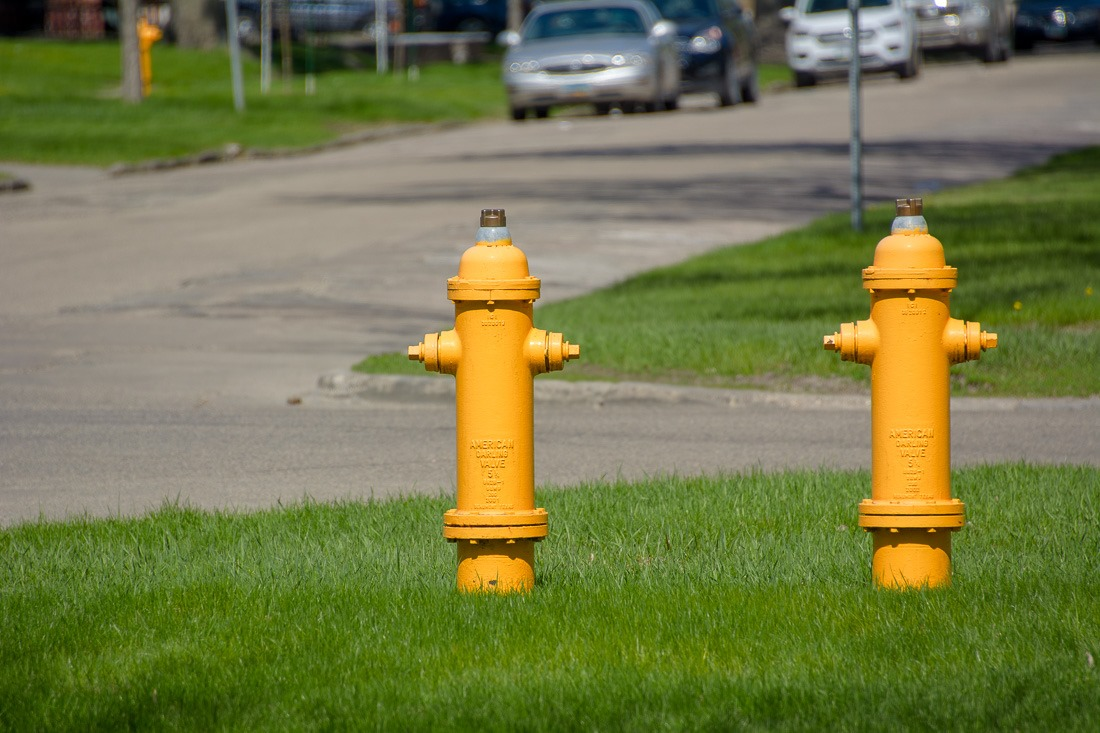 A pair of Hydrants