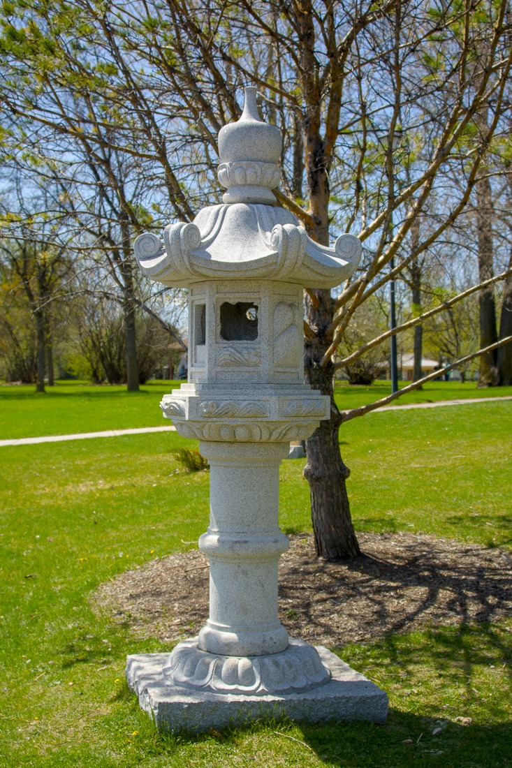 Hand carved stone lantern