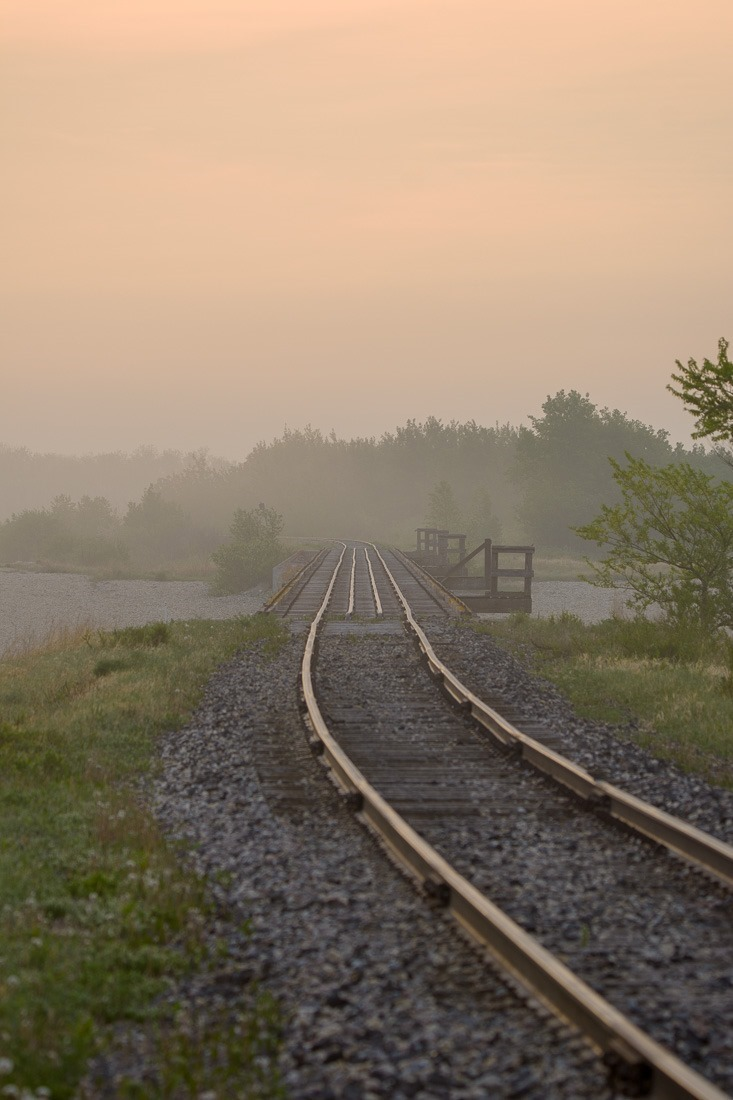 Railroaded towards sunrise