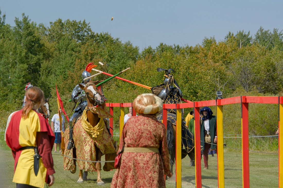Jousting at the Medieval Festival