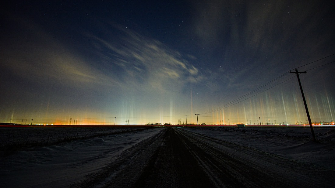 Light pillars – 25s f/8.0 ISO100