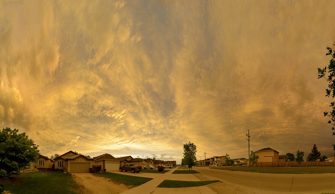 Wild skies over Winnipeg