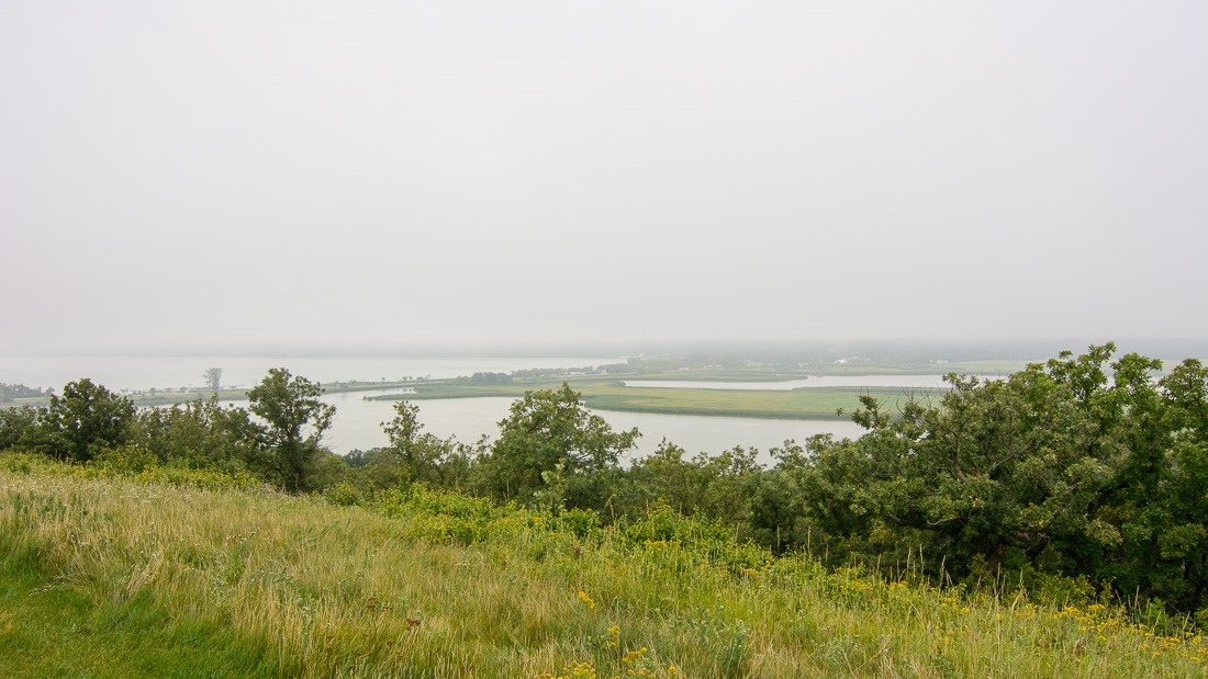 Pelican Lake in the mist
