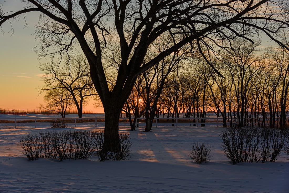 St Norbert Ruins sunset