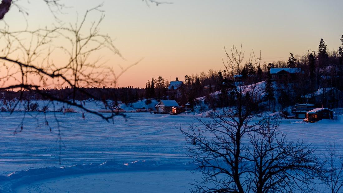 Big Whiteshell Lake, frozen and beautiful