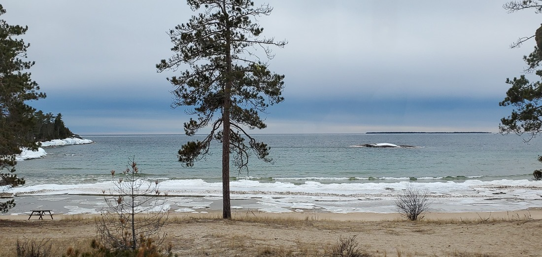 A (non) tropical beach view