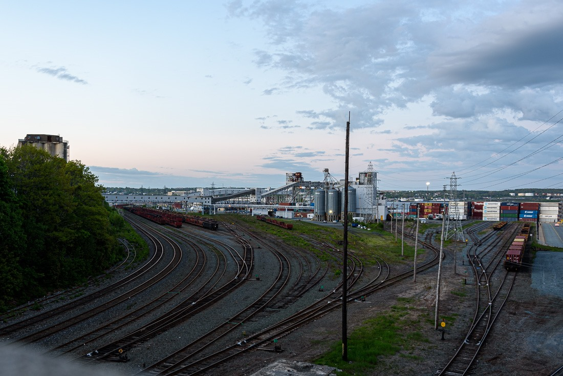 Grain elevator and trainyard