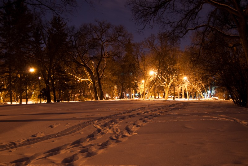 Munson Park, a first night shot with a new camera