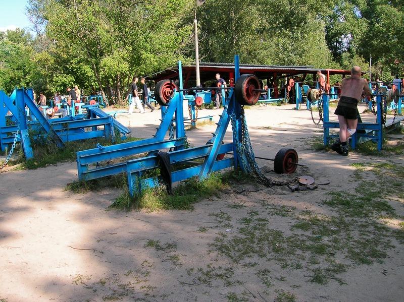 Risky workout in Hydropark, Kiev