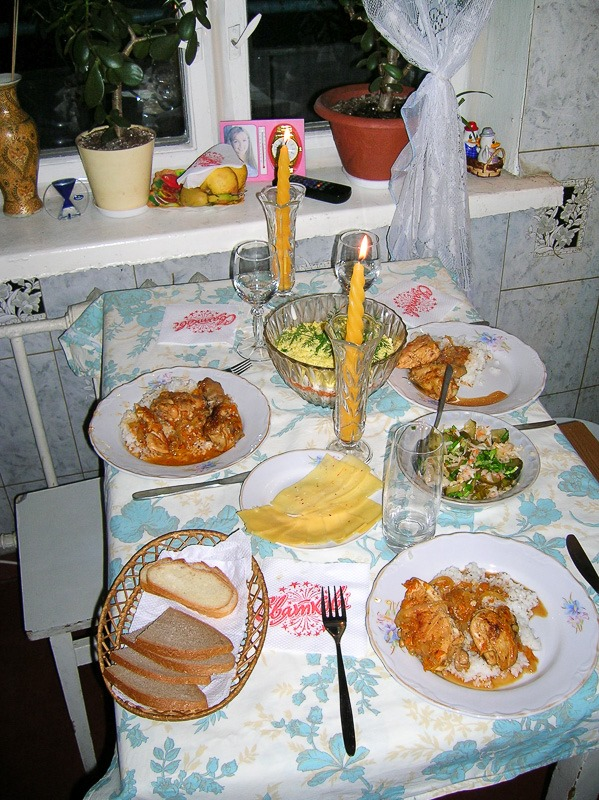 Christmas Eve table for three
