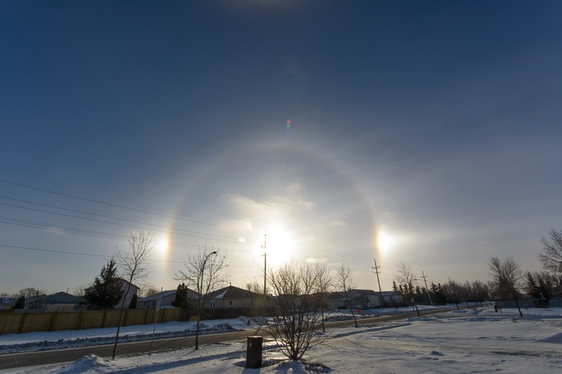 Very bright sundogs