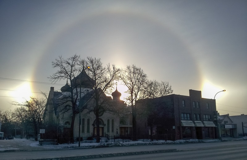 Sundogs over Main Street