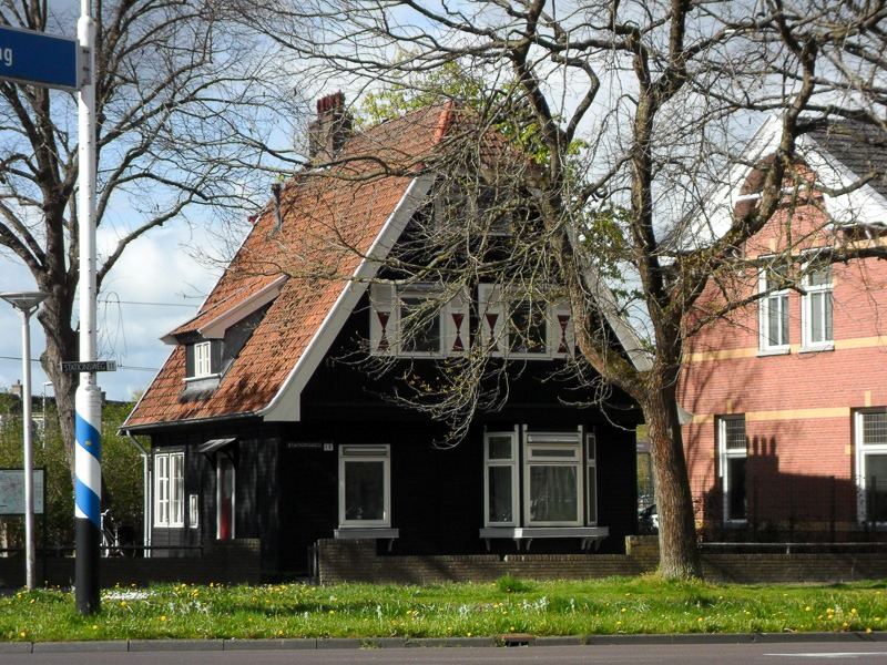 Wooden house near the railway