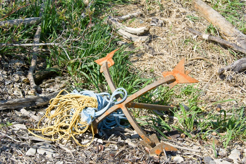 Discarded anchor
