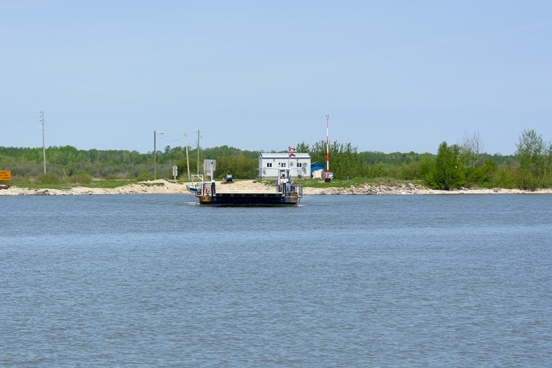 Summertime cable ferry