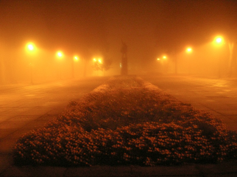 Lenin in the mist, Konotop, Ukraine