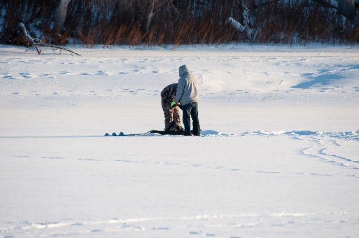 Ice fishing for young and old