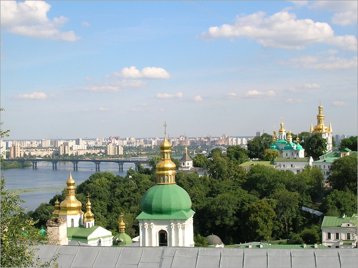 View over Kiev from the top of the monastery