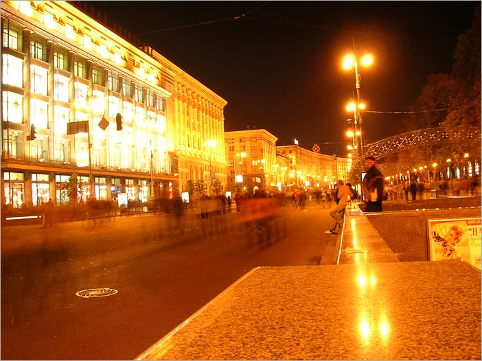 Khrestchatyk, the main street of Kiev by night