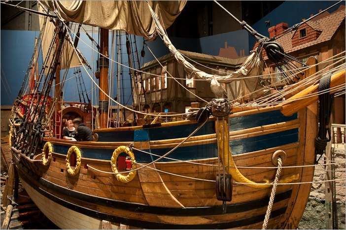 The Nonsuch harboured in the Manitoba Museum