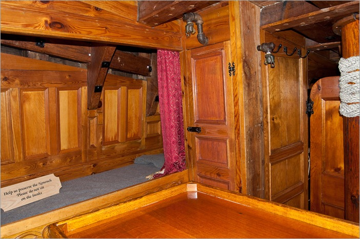 Captain's cabin on the Nonsuch
