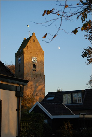 The bell tower of a long gone church dating from 1664