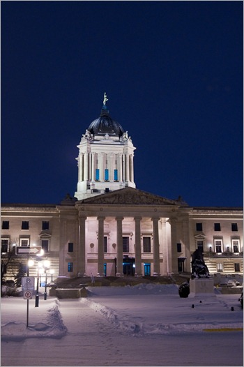 Legislature by night