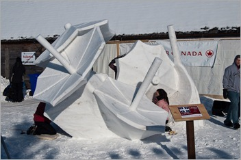 This year's Snow Sculptures (Quebec)