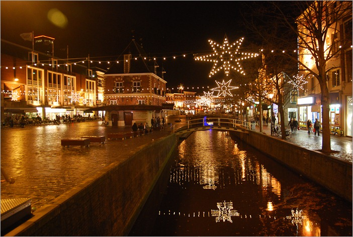 Christmas lights in Leeuwarden, Holland