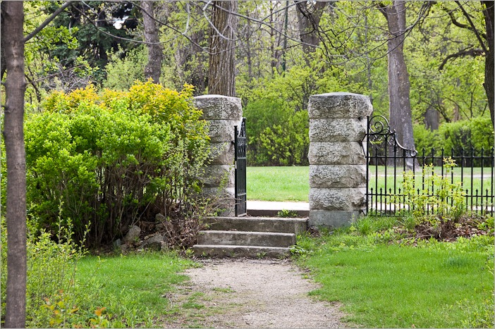 A small entrance to Munson Park