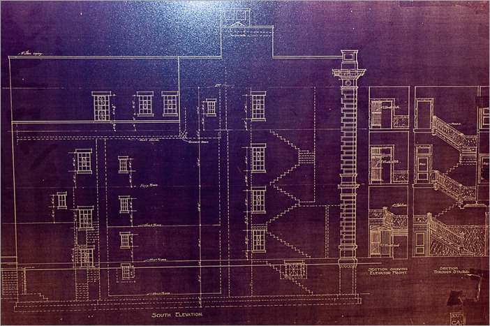 Blueprint for the building