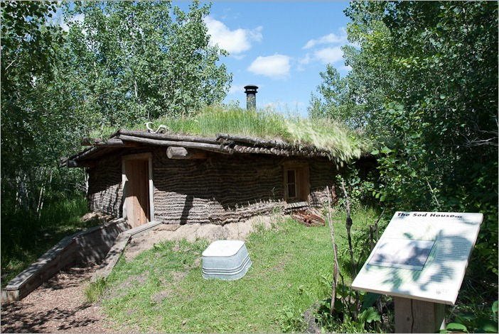 The sod house from the outside