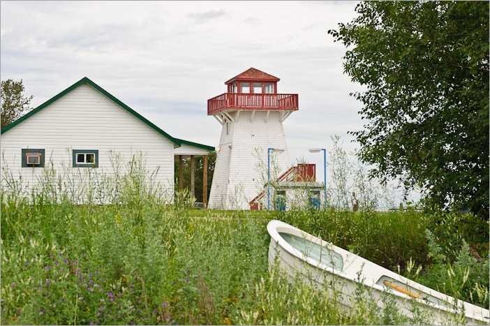 Gull Harbour lighthouse, now open to people and birds