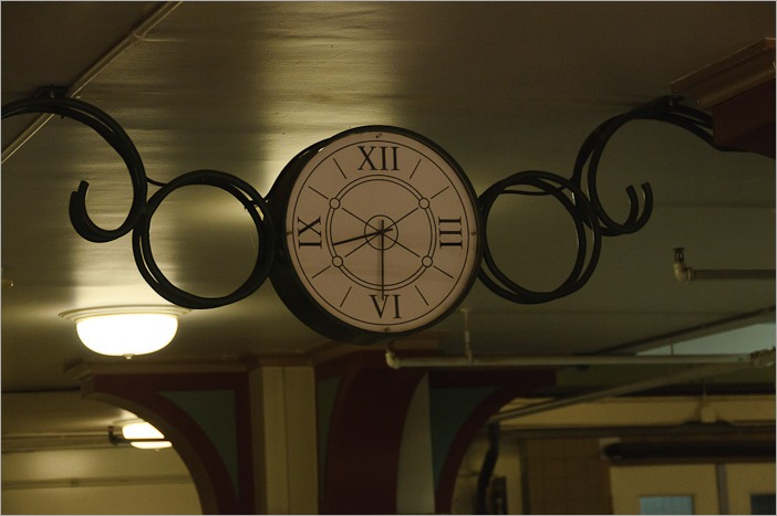 On time, as is to be expected in a station