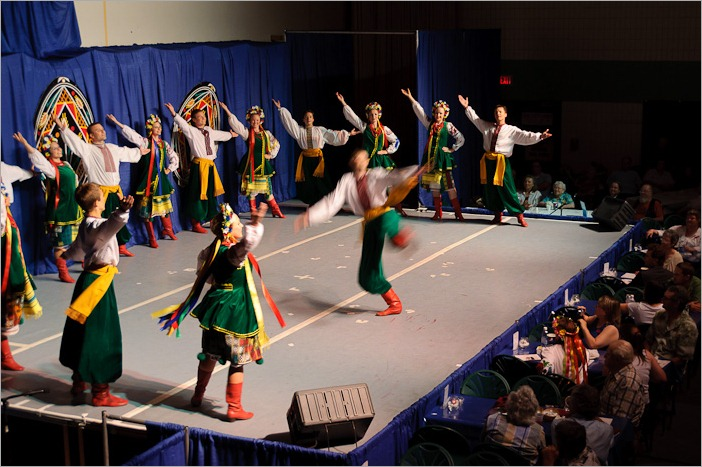 Dancing at the Ukrainian Pavilion